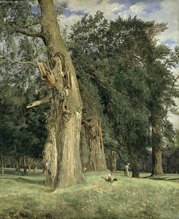 Old Elms In Prater by Ferdinand Waldmüller (1831)