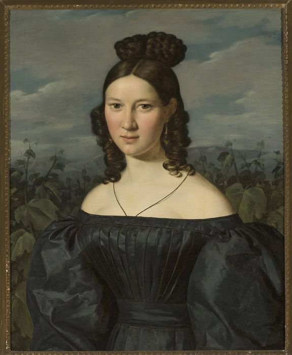 Portrait of a Young Lady by Ferdinand Waldmüller (1820)