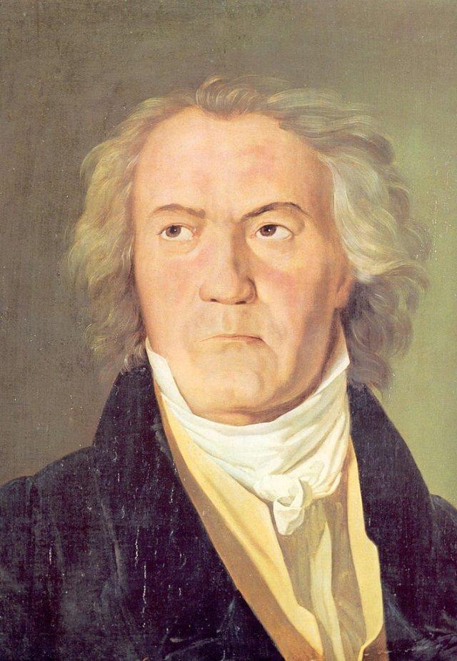 Portrait of Beethoven by Ferdinand Waldermüller (1823)