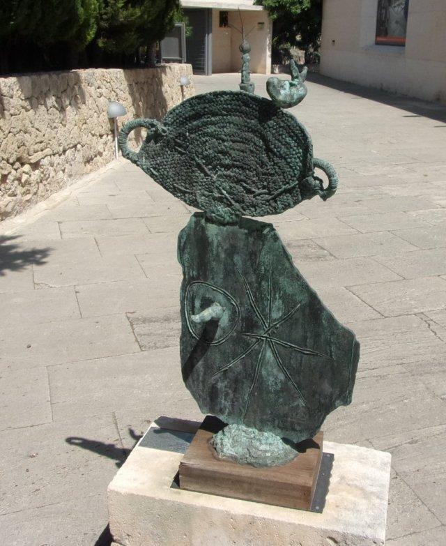 Sculpture outside Miro's studio