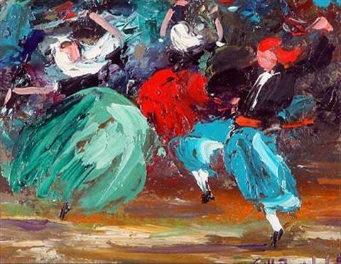 Spanische Tänzer by Josep Coll Bardolet