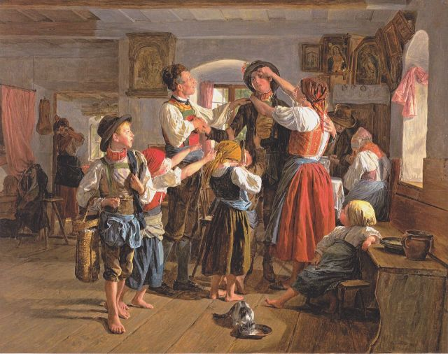 The Departure of the Conscript by Ferdinand Waldmüller (1854)