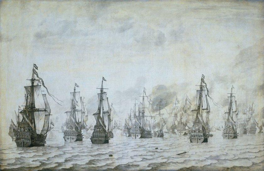 Battle of Dunkirk by Willem van de Velde the Elder (1639)