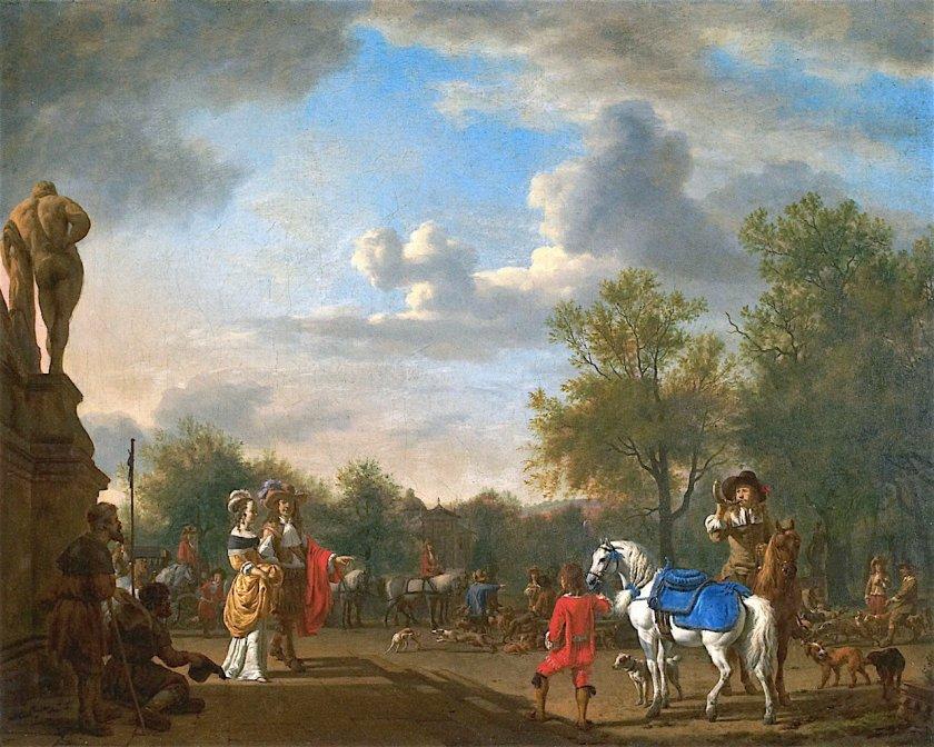 Departure for the Hunt by Adriaen van de Velde (1662)