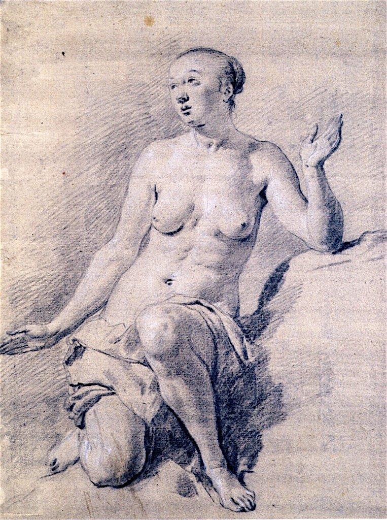 Kneeling Female by Adriaen van de Velde
