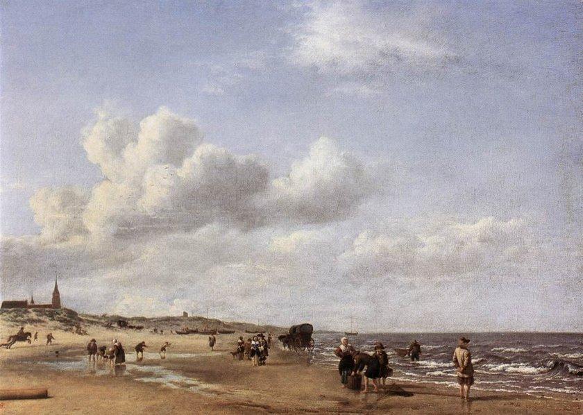 The Beach at Scheveningen by Adriaen van de Velde (1658)