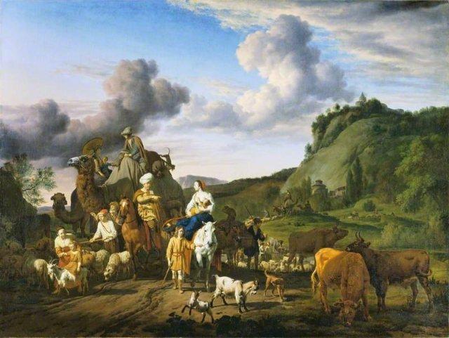 The Migration of Jacob by Adriaen van de Velde (1663)