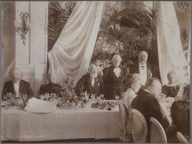 50th wedding anniversary of Hendrik Mesdag and Sientje Mesdag-van Houten in the Pulchri Studio