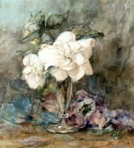 Camelias in Vase by Sientje van Houten Mesdag