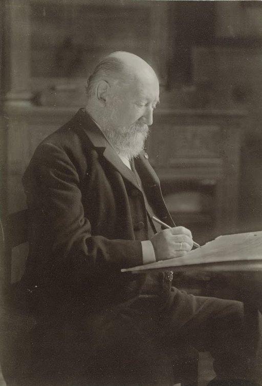 Hendrik Mesdag at work in his studio