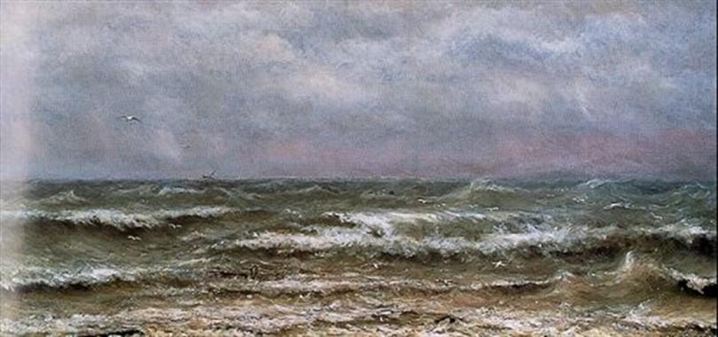 Les Brisant de la Mer du Nord by Hendrick Mesdag (1870)