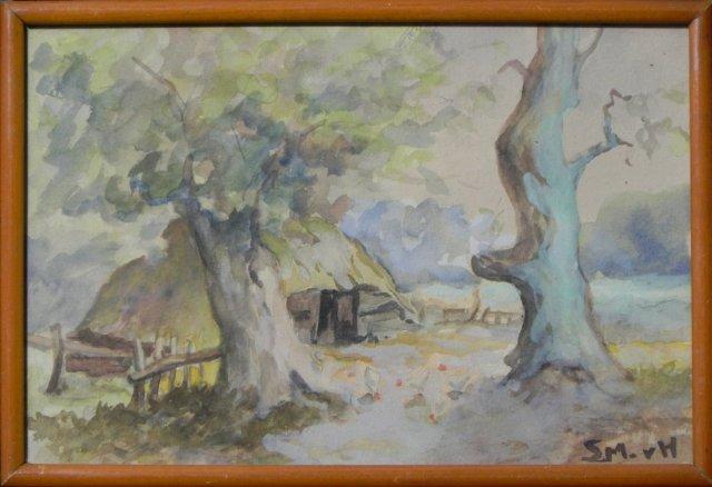 Sheep Barn hidden behind Ancient Oaks by Sientje van Houten Medag