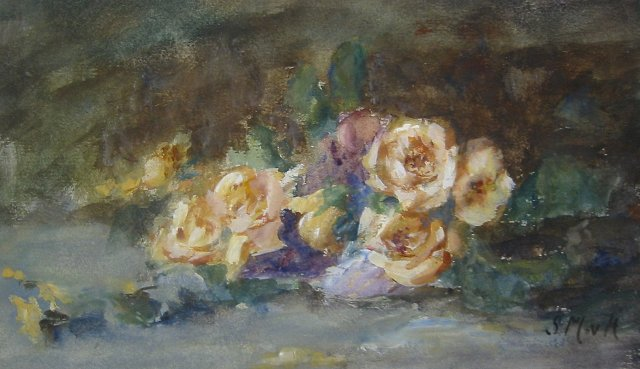 Still Life with Yellow Roses by Sientje van Houten Medag