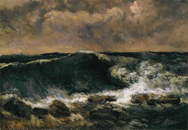 The Wave by Gustave Courbet (1869)