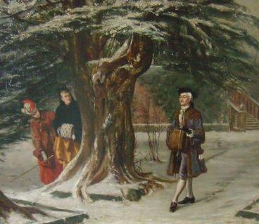 Winter Scene by Johannes Christiaan d'Arnaud Gerkens (1875)