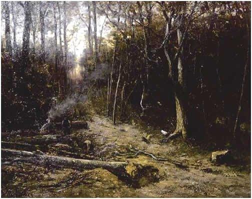 Woodcutters by Hendrik Mesdag (c.1866)