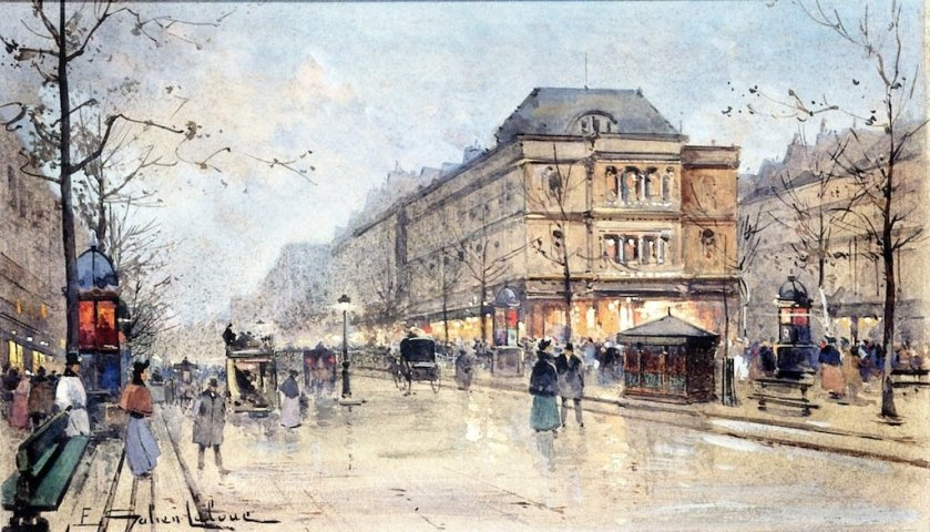 View of the Grands Boulevards by Eugène Galien-Lalou