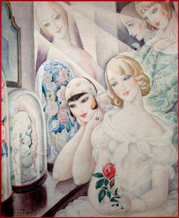 Femme a la Rose by Gerda Wegener