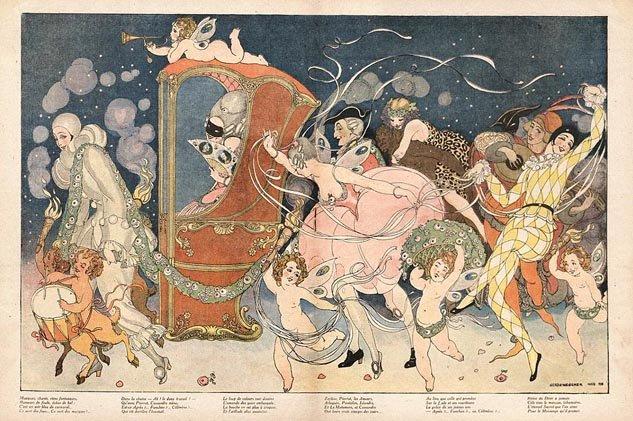 Illustration by Gerda Wegener for the magazine La Baionette