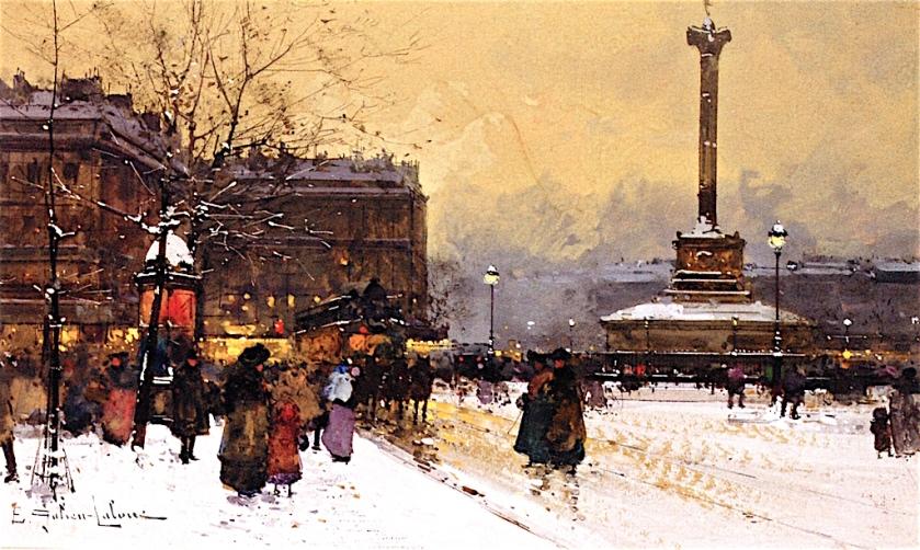 Place de Bastille by Eugène Galien-Laloue