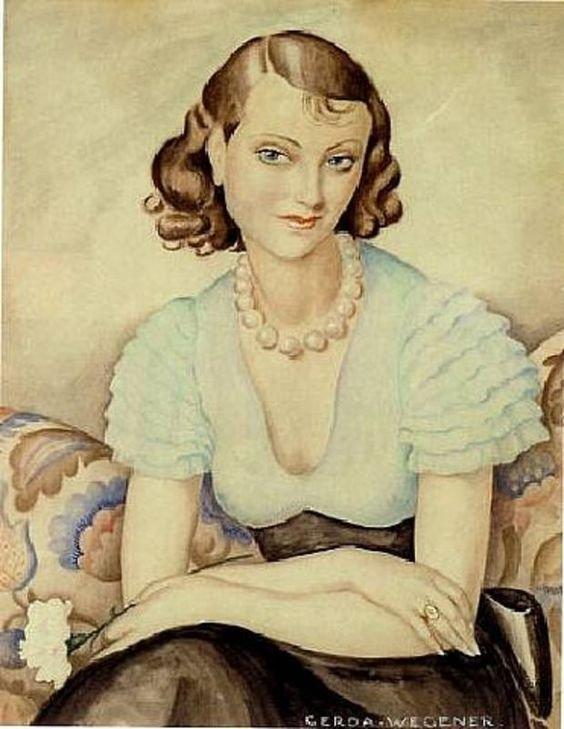 Self portrait by Gerda Wegener