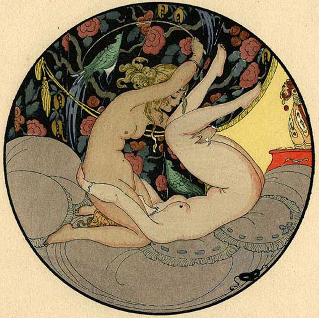 Lesbian illustration by Gerda Wegener