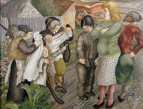 Village Gossip by Stanley Spencer (c.1939)