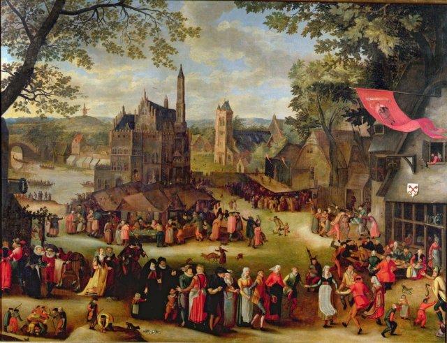 A Flemish Fair by of Isaac Claesz. Van Swanenburgh