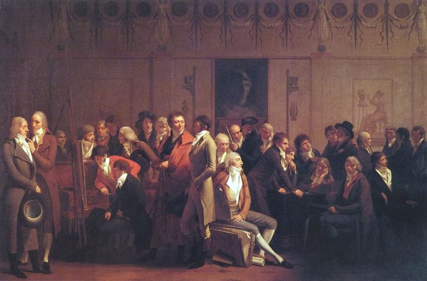 Gathering of Artists in the Studio of Isabey by Louis-Léopold Boilly (1798)