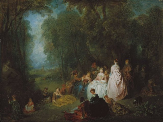 Fête champêtre (Pastoral Gathering) by Jean-Antoine Watteau (1721)