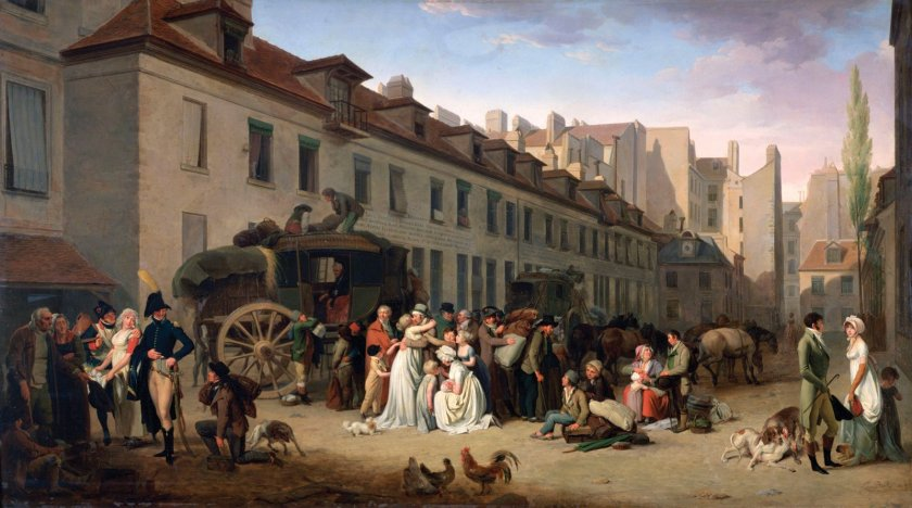 Arrival of the Stagecoach by Louis-Léopold Boilly (1803)