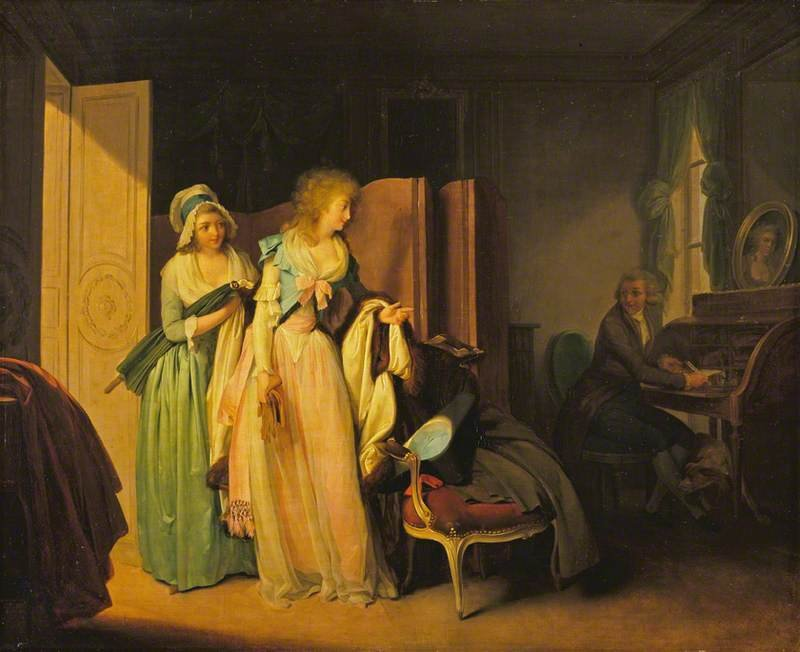The Visit Returned by Louis-Léopold Boilly (1787)