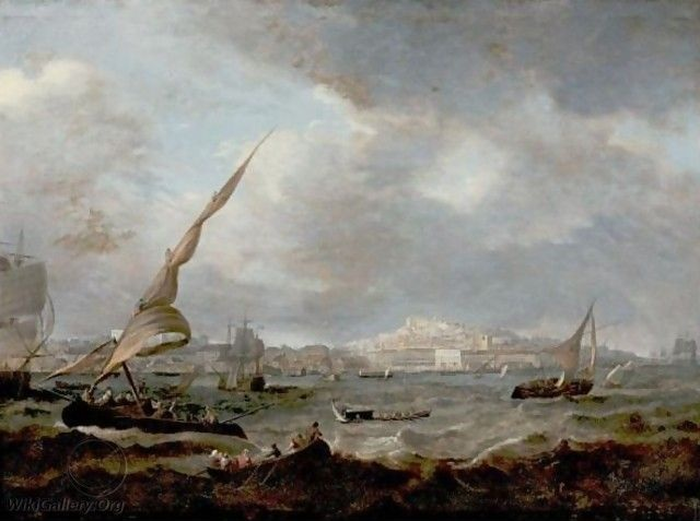 A View of Lisbon by Jean-Baptiste Pillement