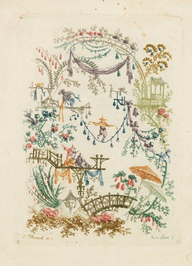 One of Jean Baptiste Pillement's Ornamental Design for the book Nouvelle suite de cahiers chinois a l'usage des Dessinateurs et des peintres.