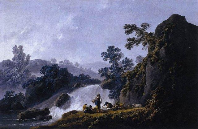 Landscape with Washerwomen by Jean-Baptiste Pillement (1792)