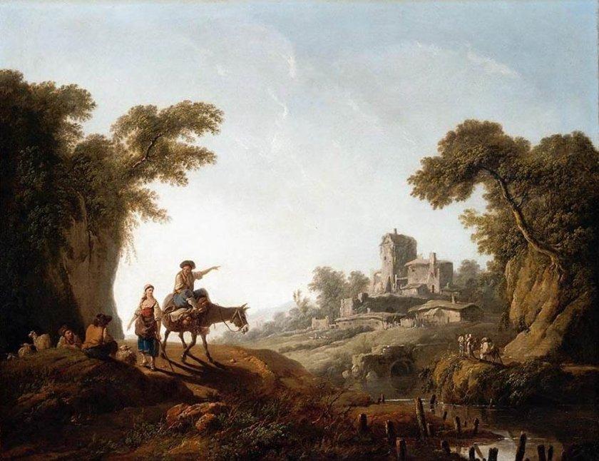 River Landscape by Jean-Baptiste Pellement