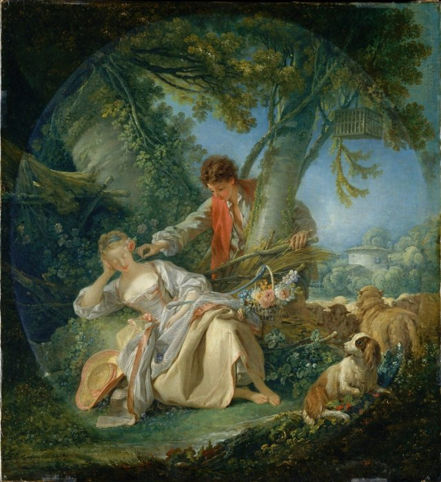 The Interrupted Sleep by Francois Boucher (1750)