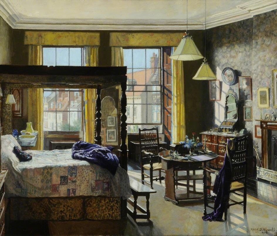 Bedroom, Bar House, Beverley, East Riding Of Yorkshire By Mary Dawson  Elwell (1935)