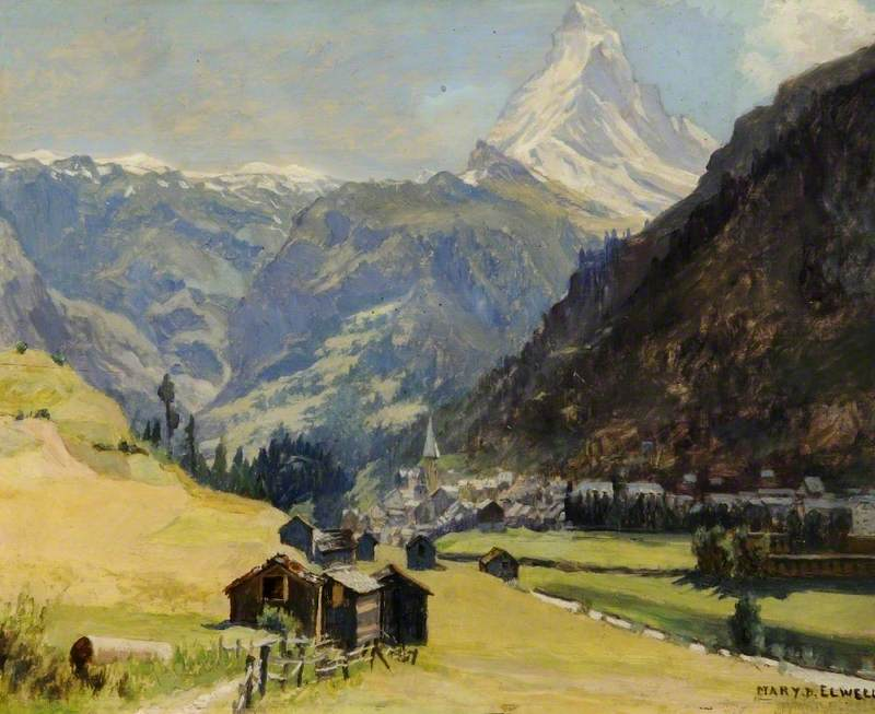 Matterhorn from Zermatt Switzerland by Mary Elwell