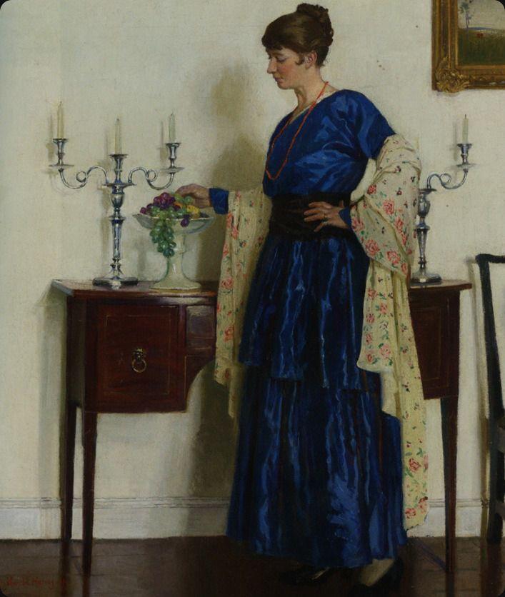 Portrait of the Artist's Wife, Gertrude by Harold Harvey (1917)