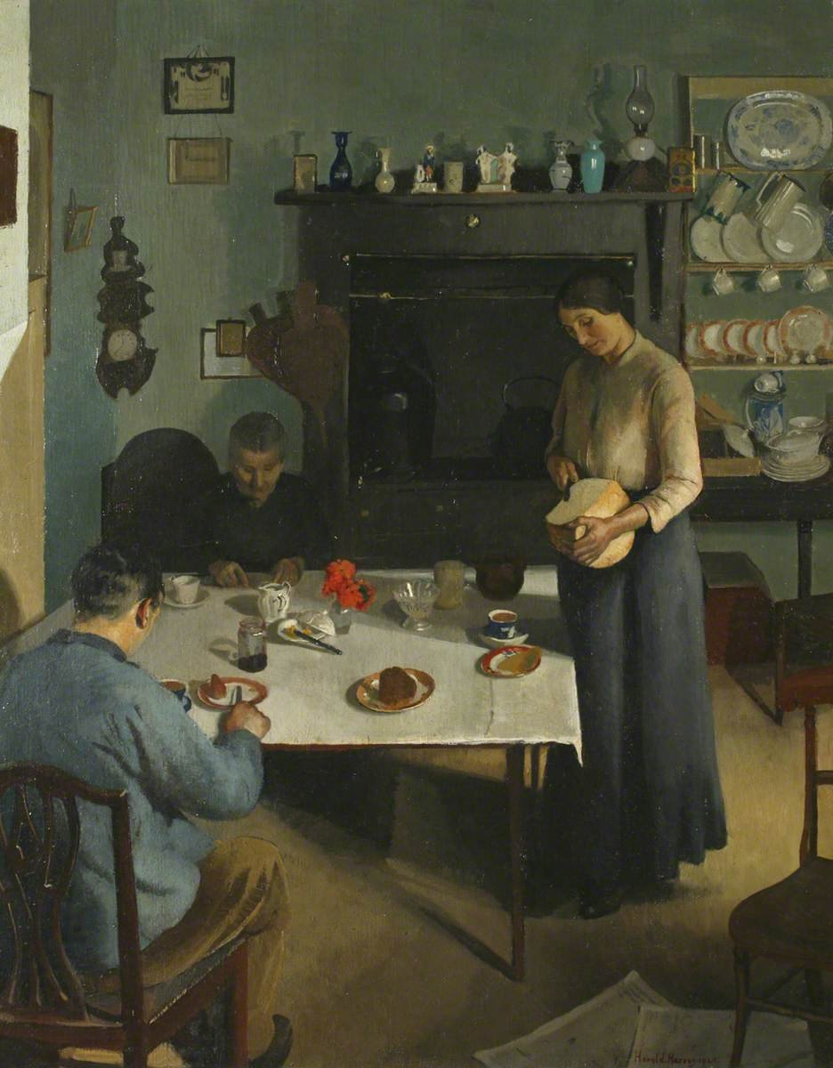 The Tea Table by Harold Harvey