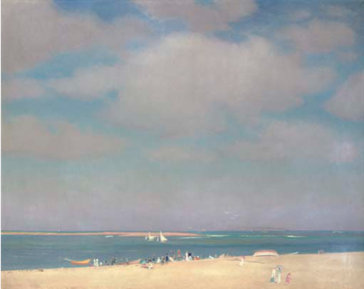 The Beach at Chatham by William Paxton (c.1915)