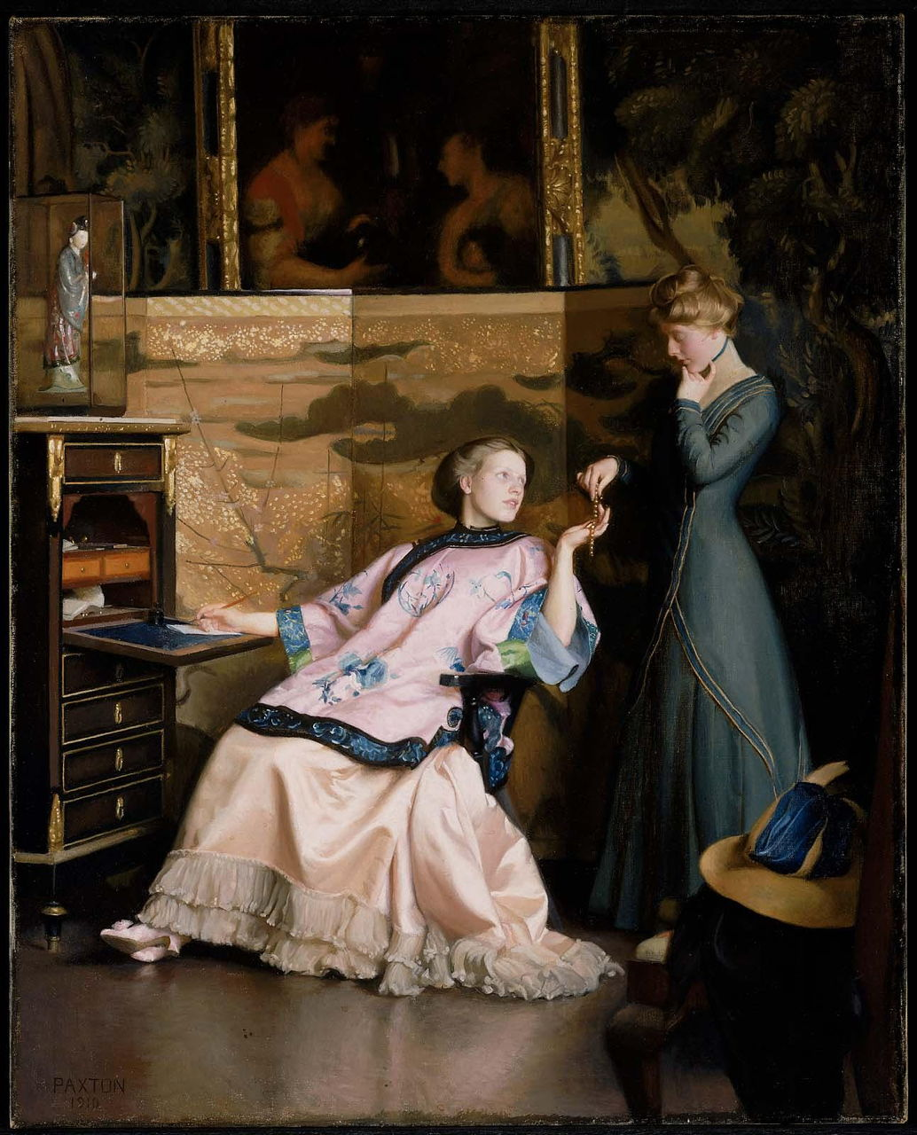 The New Necklace by William Paxton (1910)
