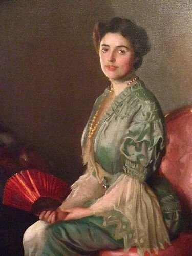 The Red Fan by William McGregor Paxton (1906)