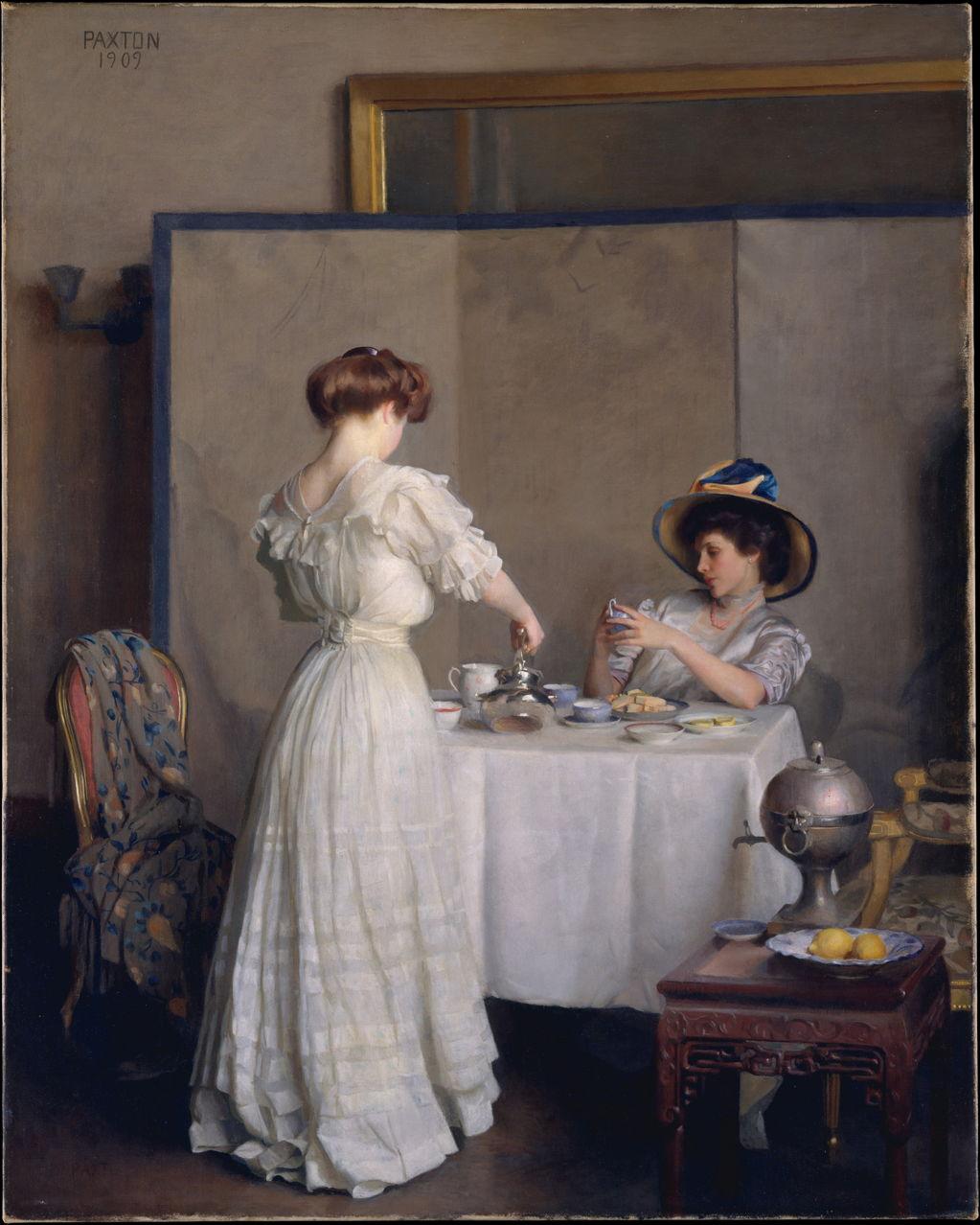 William McGregor Paxton (1869–1941), Tea Leaves (1909),