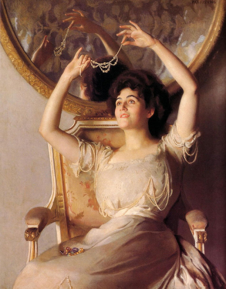 William McGregor Paxton (1869–1941), The String of Pearls (1908