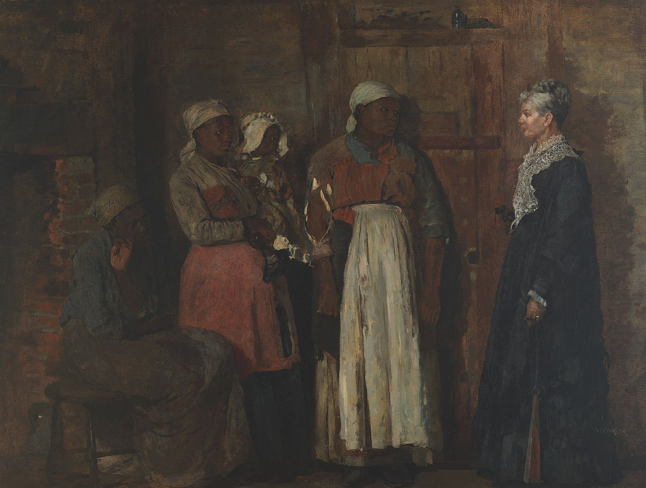 A Visit from the old Mistress by Wilmslow Homer (1876)