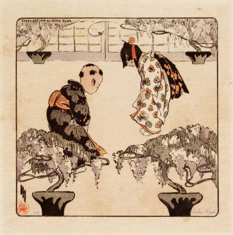 HELEN HYDE (1868–1919) TEN WOODBLOCK PRINTS, MEIJI PERIOD (20TH CENTURY)